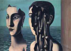 The Double Secret, by Rene Magritte