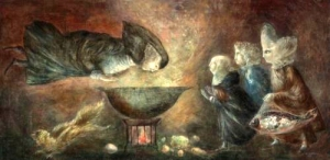 Santa Teresa en la Concina by Leonora Carrington